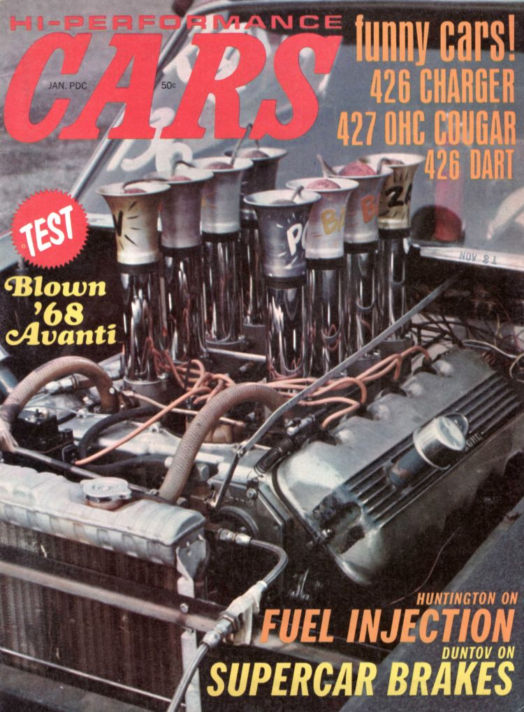 HI-PERFORMANCE CARS MAGAZNE FEB/1969..1969 TESTS: 427 PHASE II VETTE..428 MACH 1