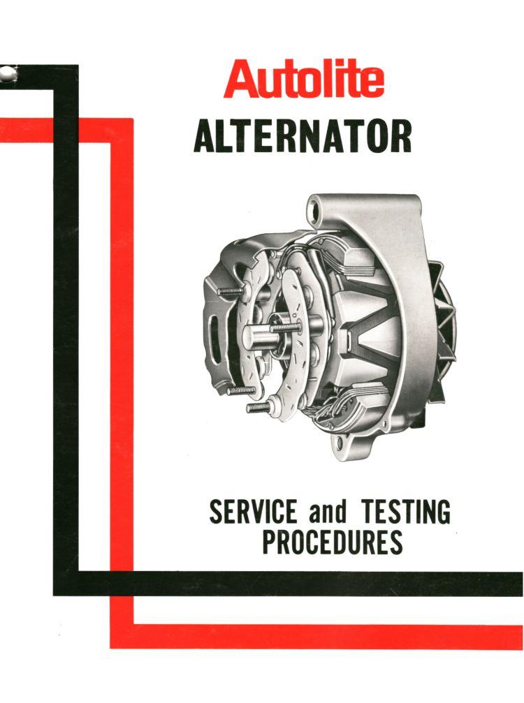 1966 autolite alternator service manual rh mustangtek com Motorola Alternator Wiring Diagram 5 Wire Alternator Wiring Diagram