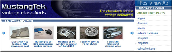 Mustangtek Ford and Vintage Classifieds